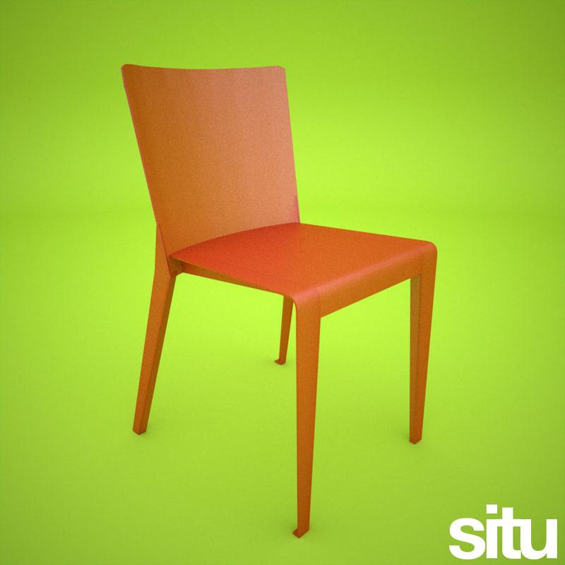 3d polypropylene plastic designer chair model