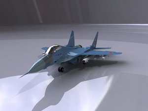 3ds max mig-29 fighter