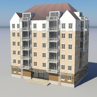 residencial city building - 3d model