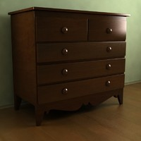 old commode 3d model