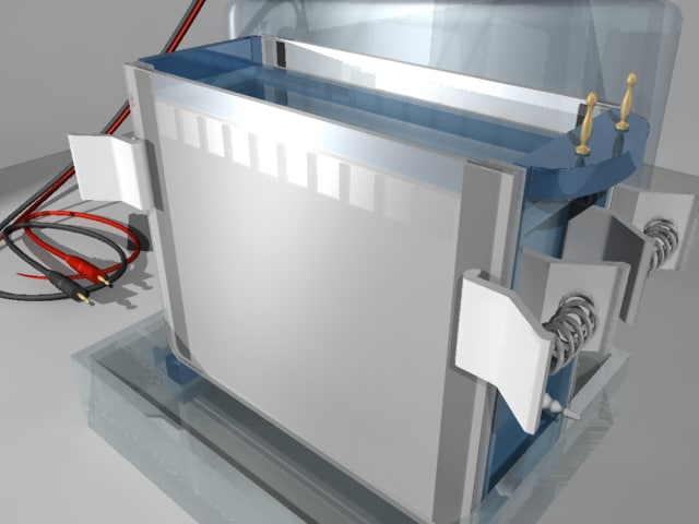 vertical electrophoresis 3d model