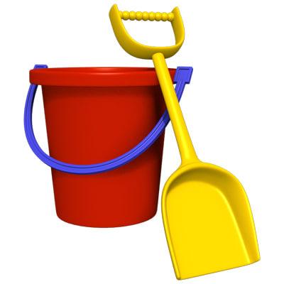 lightwave toy pail shovel
