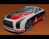 Nissan GTR Prototyp-VRay