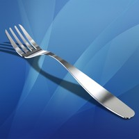 3d model stainless steel fork