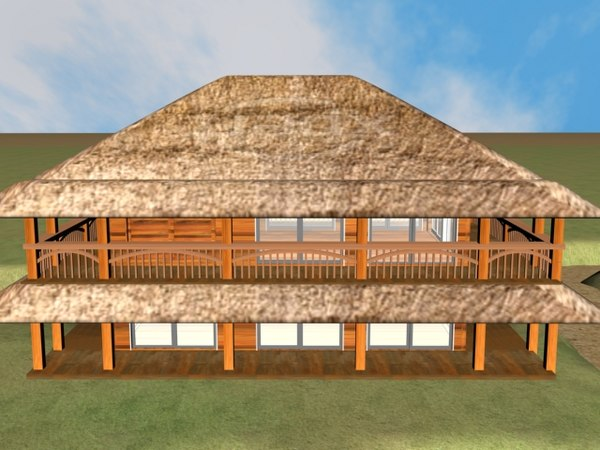 3d straw house