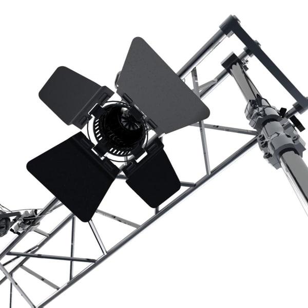 3d studio lights fresnel ramp model