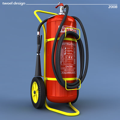 3d trolley extinguisher