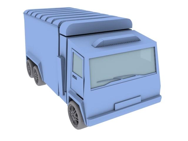 van truck 3d max