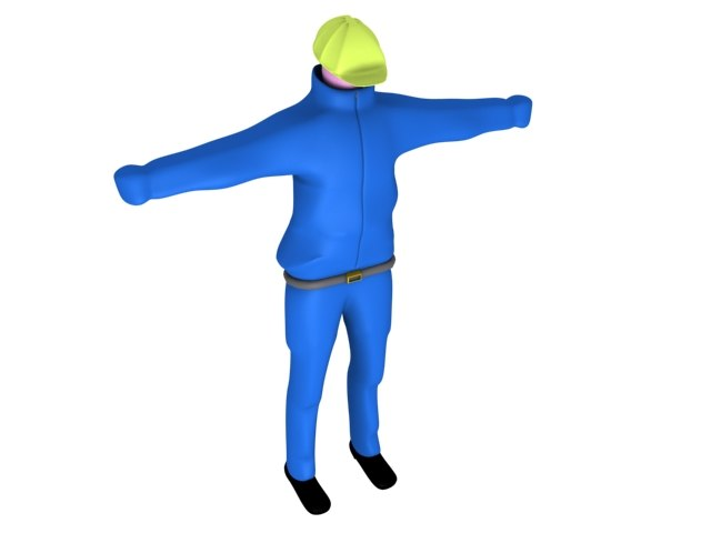 3ds max workman character worker