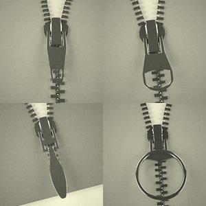 zippers clothes 3d 3ds