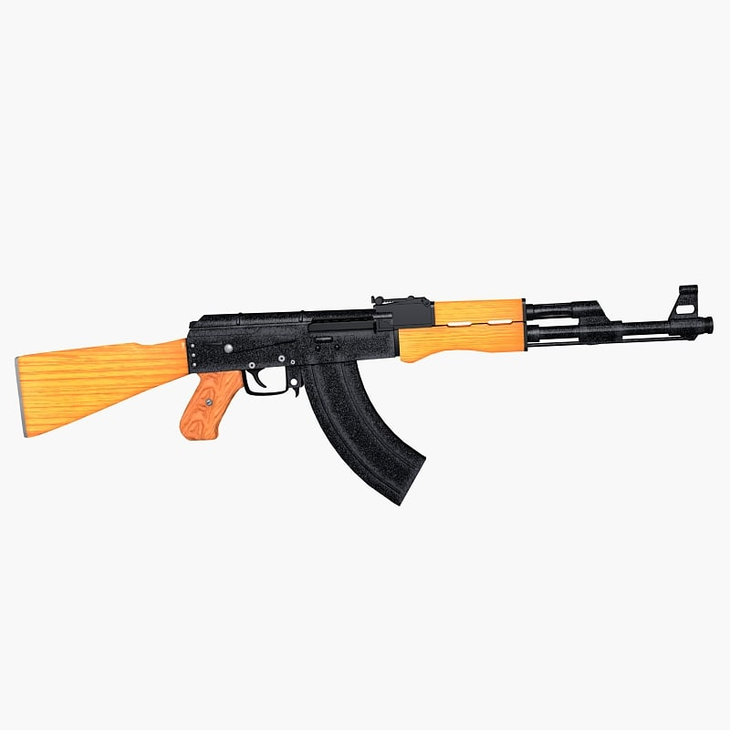 soviet ak 47 assault rifle max