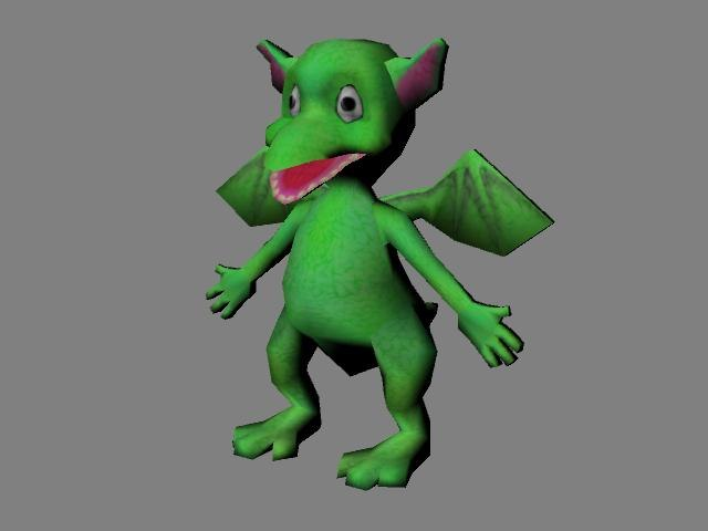 dragon baby 3d max