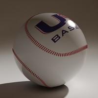 3d model baseball