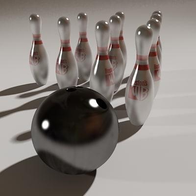 3d model bowling ball