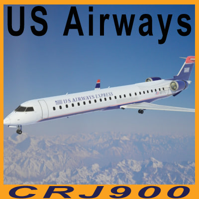 3d model crj 900 airways crj900