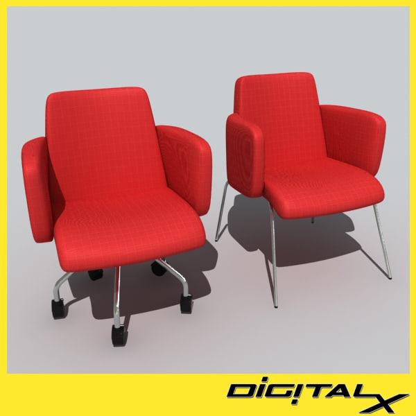 moorea swivel chair 3d model