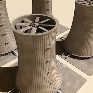maya nuclear cooling tower