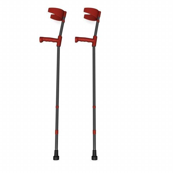crutches 3d model