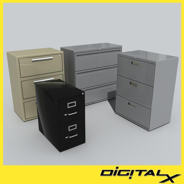3d model filing cabinet
