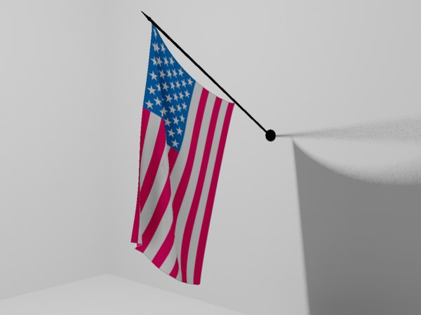 3ds max united states flag