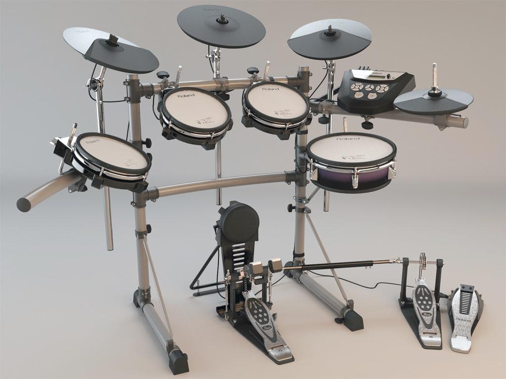 roland td6-kx electronic drum kit 3d max