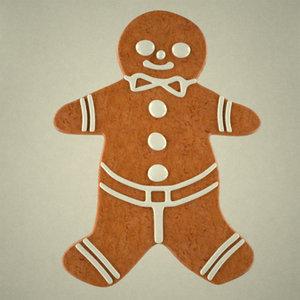 3d 3ds gingerbread man
