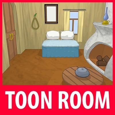 max cartoon house room
