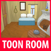 max cartoon house room