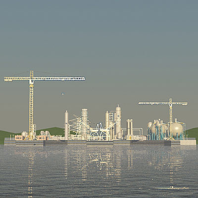 3d model industrial harbour ship