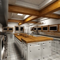 restaurant kitchen 3d max