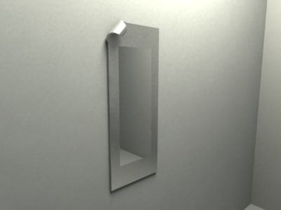 curved metal mirror 3d model