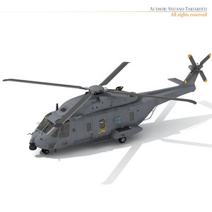 3d nh-90 helicopter nh90 model