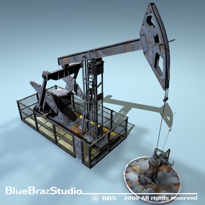 pumpjack oil pump 3ds