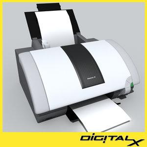 3d ink jet printer model