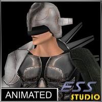 3d model sci fi male character