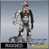 sci fi male character 3d model