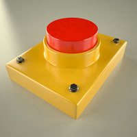 red button 3d model