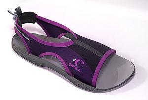sandal neoprene 3d model
