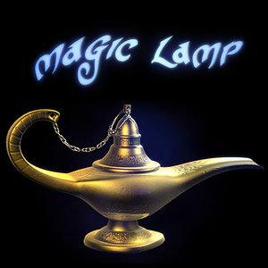 magic lamp 3d max
