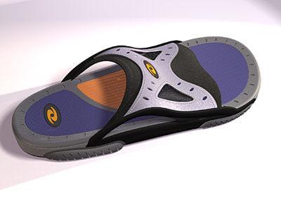3d model of slide sandals