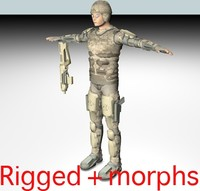 future soldier rigged 3d model