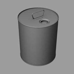 3d model steel pail