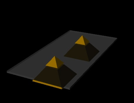 3d table pyramid model