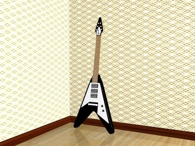 3d gibson flying v guitar model