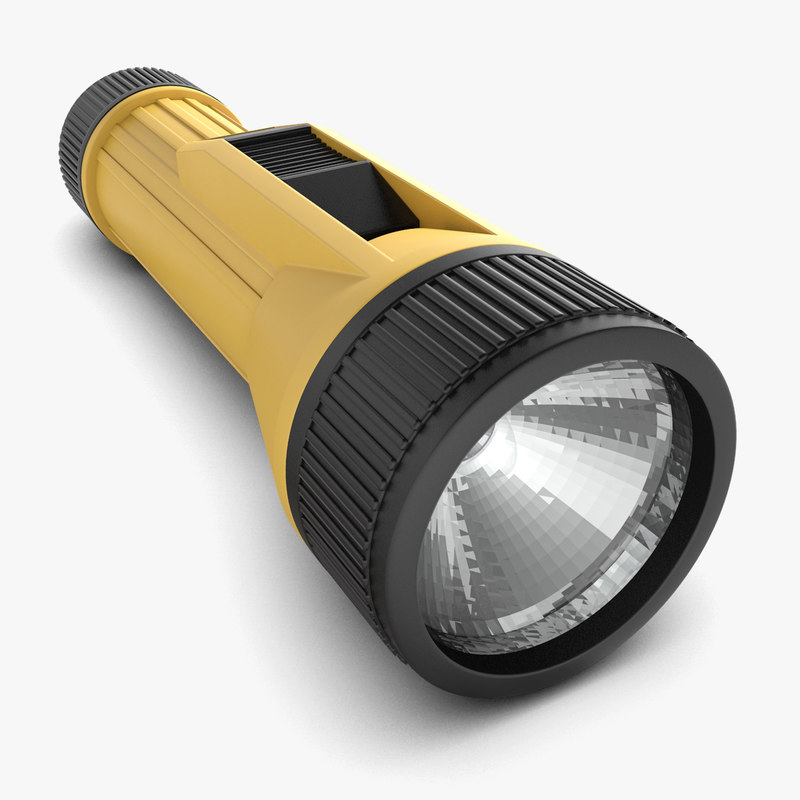 flash light flashlight 3d model