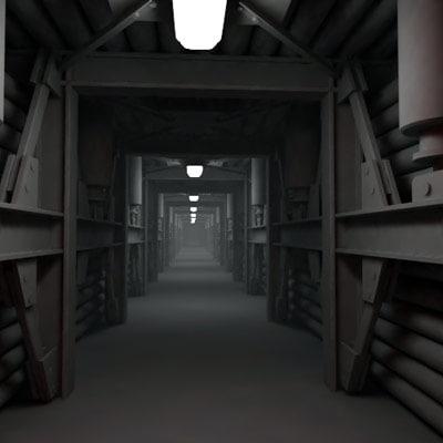 3d vault tunnel model