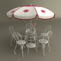 table umbrella beer cups 3d max