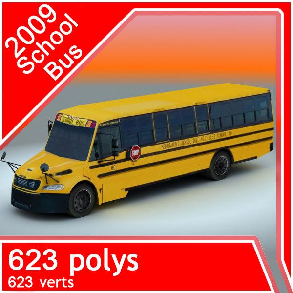 2009 school bus 3d 3ds