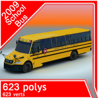 2009 school bus 3d 3ds