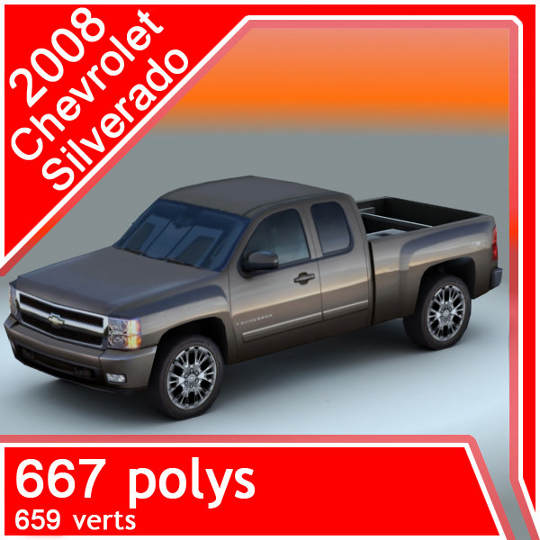 3d 2008 chevrolet silverado model